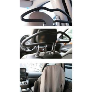 車内用ハンガー!コート/スーツハンガー取付装着簡単 スーツ 背広 収納 着替え ジャケット 車載!【ネコポス不可】|takishohin