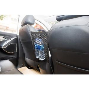 車内用 収納できるガードネット 後部座席 仕切り ポケット ドライブ ペットボトル ティッシュ 簡単装着【ネコポス不可】|takishohin