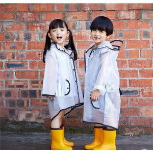 クリアレインコート レインポンチョ フリンジ付き エルフ帽子様式 キッズ 子供雨具 レイングッズ 雨カッパ レインウエア 通園 通学 自転車 遠足 takishohin