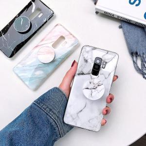 ギャラクシーGalaxy S9 Galaxy S9 Plus Galaxy S9+ Galaxy Note9用大理石柄スマホケース 背面保護カバー 折りたたみ式バンカーリング付き 落下防止 takishohin