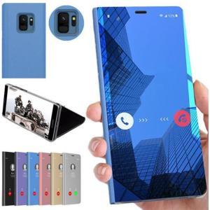 Galaxy Note10(6.3インチ)/Note10+(6.8インチ)用保護カバー メッキ 鏡面  液晶保護ブックカバー   スタンド機能付きミラー手帳型 表面半透明|takishohin