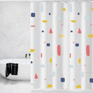 シャワーカーテン 撥水加工 お風呂 バスカーテン 防水浴室の装飾 間仕切り 浴室カーテン 防水防カビ 速乾 軽量 取付簡単 カーテンリング付 多種選べる 北欧風 takishohin