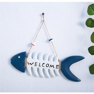魚の骨型 歓迎看板 案内板 歓迎板 壁掛け 海洋風 地中海 壁面装飾品 壁飾り ウォールアート 北欧 オーシャン おしゃれ 雑貨 新築祝い/ギフト 宅配便発送|takishohin