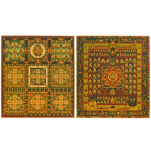 両界曼荼羅 色紙(2枚一組) takita