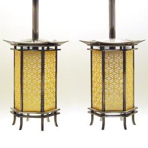 六角吊り灯篭 イブシ 豆(一対)|takita