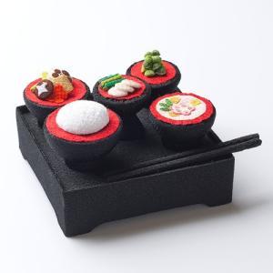 ちりめんお供え膳 (仏膳・霊供膳)(京ちりめん)(お盆用品) takita