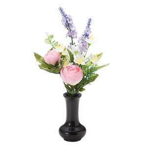 【仏壇用の仏花・造花】千の花(ピンク) S-14 花立3寸付|takita