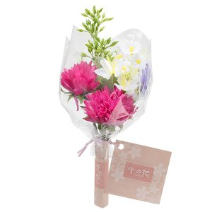 【仏壇用のミニ仏花・造花】千の花 小 (レッドパープル) S-13|takita