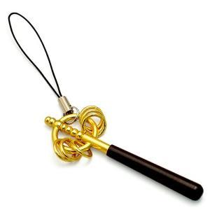 御守り錫杖(携帯錫杖ストラップ)(京都製密教法具 寺院用仏具)|takita