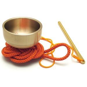 袖印金 朱紐(携帯用おリン りん)(京都製寺院用仏具)|takita