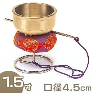 スタンド型印金(銀鈴) 1.5寸(携帯用リン りん)(京都製寺院用仏具)|takita