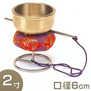 スタンド型印金(銀鈴) 2寸(携帯用リン りん)(京都製寺院用仏具)|takita