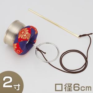 印金 金物柄 2寸(携帯用リン りん)(京都製寺院用仏具)|takita