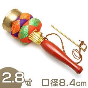 印金 朱塗り柄 2.8寸(携帯用リン りん)(京都製寺院用仏具)|takita