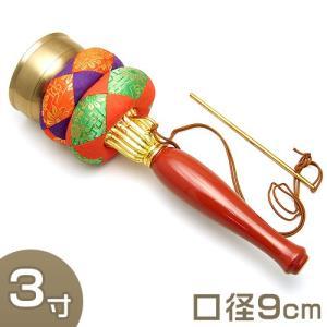 印金 朱塗り柄 3寸(携帯用リン りん)(京都製寺院用仏具)|takita