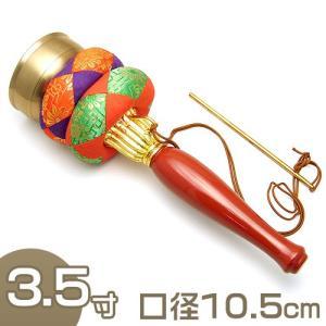 印金 朱塗り柄 3.5寸(携帯用リン りん)(京都製寺院用仏具)|takita