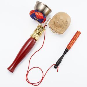 印金木魚セット(携帯用リン りん)(寺院用仏具)|takita