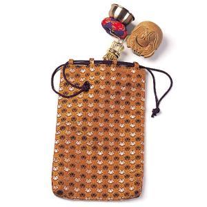 印金木魚セット用金襴袋(携帯用リン りん)(寺院用仏具)|takita