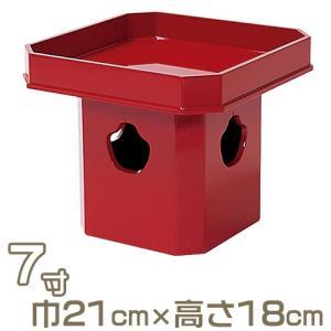 三宝 朱塗り 7寸(寺院用仏具)|takita