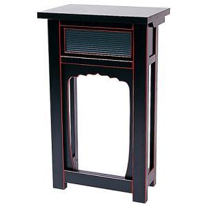 折畳式立焼香机 黒塗 1.5尺(寺院用仏具)|takita