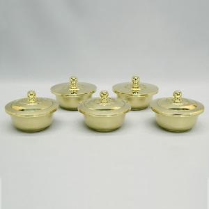 五器(五個一組) 大々型(京都製密教法具 寺院用仏具)(護摩器)|takita