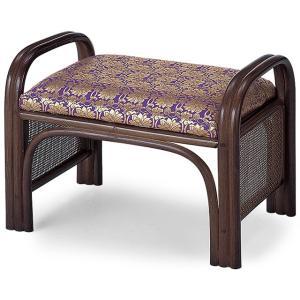 仏前金襴座椅子 紫金襴(仏壇用おまいり椅子) takita
