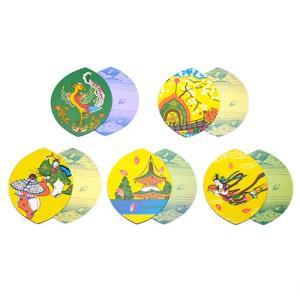 散華 五種柄色刷(100枚セット)(寺院用仏具)|takita