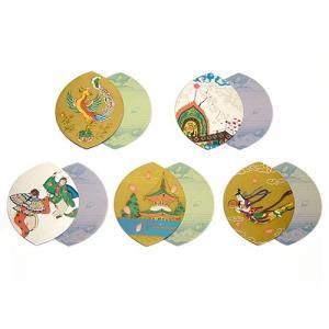 散華 五種柄片面金銀刷(100枚セット)(寺院用仏具)|takita