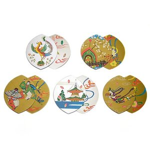 散華 五種柄両面金銀刷(100枚セット)(寺院用仏具)|takita