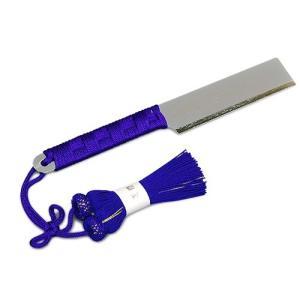 お剃刀(おかみそり) 正絹紫色房付き(京都製寺院用仏具)|takita