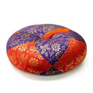 ふとん 丸型総金襴(赤紫) 1尺(リン・木魚・木柾用の布団 フトン)(寺院用仏具)|takita