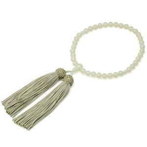 女性用数珠 グリーンオニキス 正絹頭付房|takita