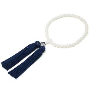 女性用数珠 白オニキス 正絹頭付房|takita