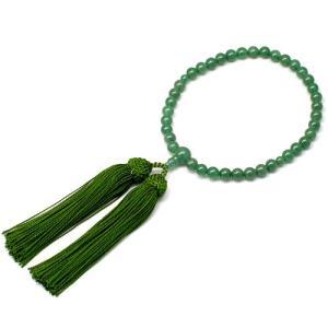 女性用数珠 インドヒスイ 正絹頭付房|takita