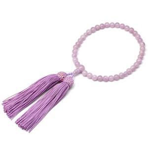 女性用数珠 紫雲石 正絹頭付房|takita