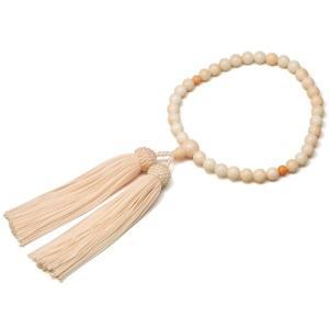 女性用数珠 ピンクサンゴ 正絹頭付房|takita