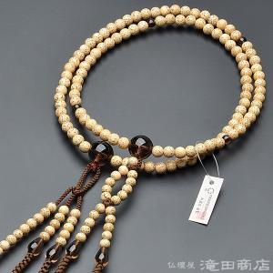 数珠 日蓮宗 男性用 星月菩提樹 茶水晶仕立 尺2 宗派別念珠 数珠袋付き|takita