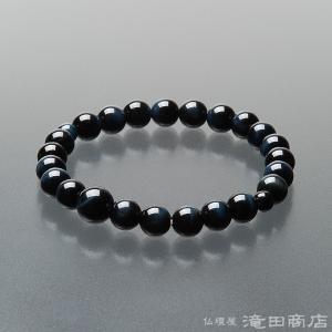 腕輪念珠 数珠 ブレスレット 青虎目石 8mm|takita