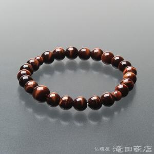 腕輪念珠 数珠 ブレスレット 赤虎目石 8mm|takita