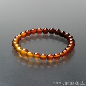 腕輪念珠 数珠 ブレスレット 瑪瑙(メノウ) グラデーション 7mm|takita