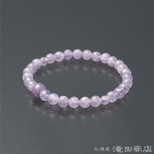腕輪念珠 数珠 ブレスレット 紫雲石 6mm|takita