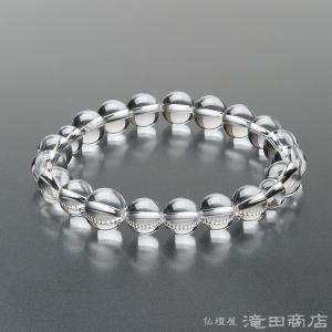 腕輪念珠 数珠 ブレスレット 本水晶 10mm|takita