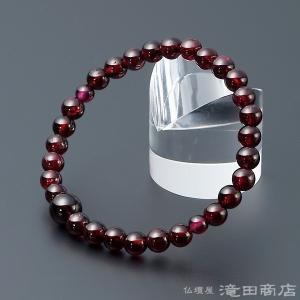 腕輪念珠 数珠 ブレスレット ガーネット 6mm|takita