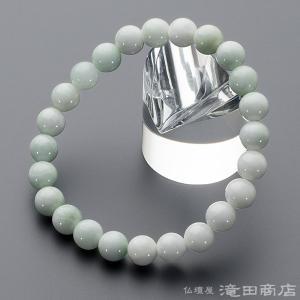 腕輪念珠 数珠 ブレスレット 極上 糸魚川翡翠 8mm ストレート|takita