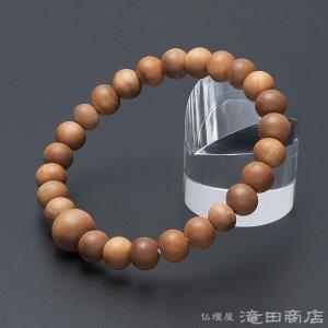 腕輪念珠 数珠 ブレスレット インド白檀 8mm(尺二玉) takita