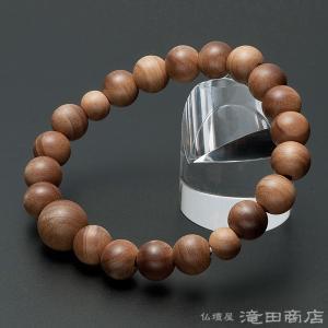 腕輪念珠 数珠 ブレスレット インド白檀 10mm(尺六玉) takita