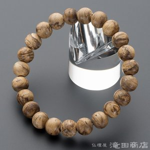 腕輪念珠 数珠 ブレスレット 極上 沈香(じんこう) 9.5mm玉 ストレート takita
