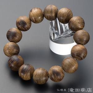 腕輪念珠 数珠 ブレスレット 極上 沈香(じんこう)  16.5mm玉 ストレート takita