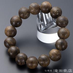 腕輪念珠 数珠 ブレスレット プレミアム 沈香(じんこう)  15mm玉 ストレート takita