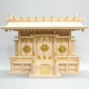 神棚(お宮) 通し屋根三社 中|takita